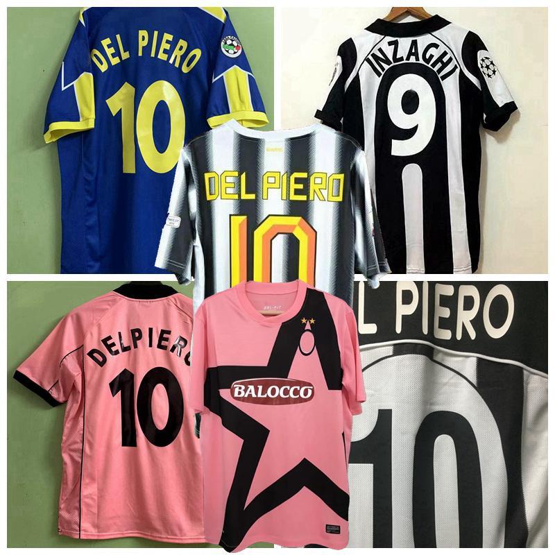 1995 1997 1997 1988 1999 2000 2002 2003 2011 2012 Buffon soccer jerseys INZAGHI DAVIDS NEDVED DEL PIERO TREZEGUET Retro football shirt S-2XL