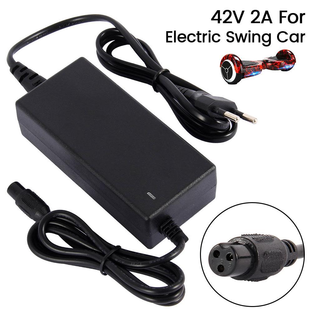 42V 2A 범용 배터리 어댑터 충전기 EU / US 플러그 스쿠터 호버 보드 스마트 밸런스 휠 36V 전력에 대한 빠른 충전기