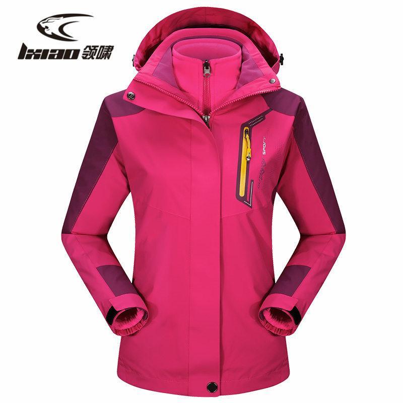 LXIAO hiver Randonnée Veste imperméable Résistant à l'eau Respirant ployester Veste coupe-vent extérieur Sport Pour Camping Vêtements