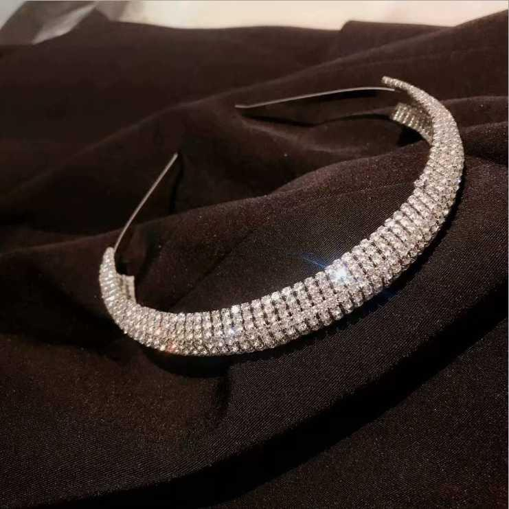 Vollständige Diamantkristall Stirnband weiblicher verdickten Schwamm Stirnbänder rutschfeste Druckkopfbedeckung Haarbänder