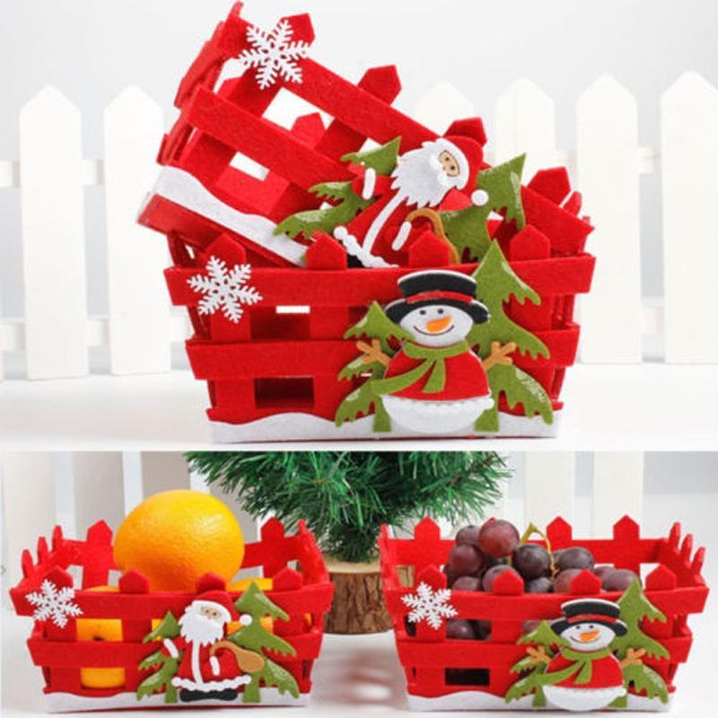Navidad caramelo Frutas Cesta de almacenamiento de contenedores Box Decoración de Navidad regalos 2 St