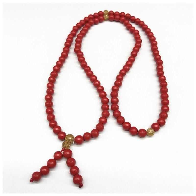 Nuovo cinabro naturale 108 perline ciondolo braccialetto Buddha perline fortunato anno XzSUP braccialetto gioielli ciondolo