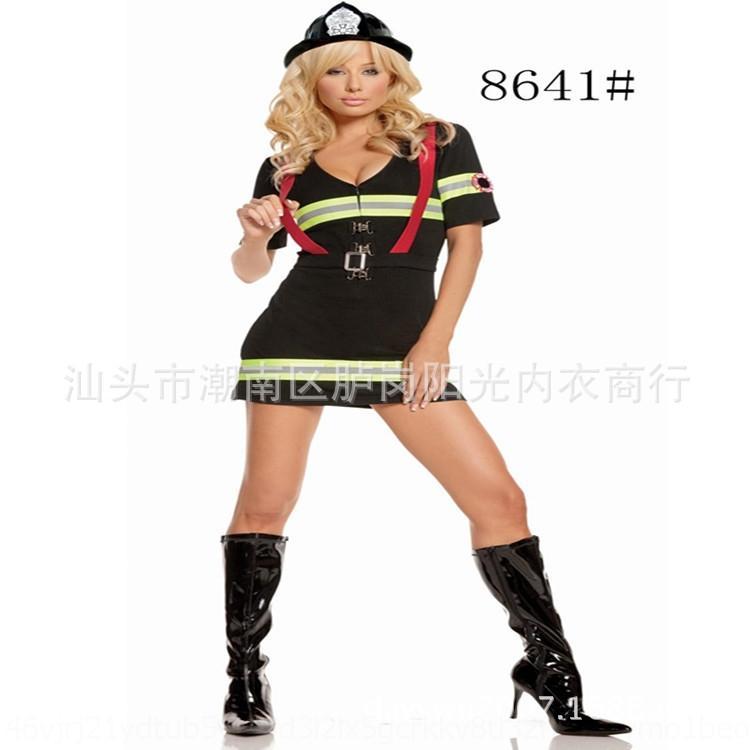 9EUBh TOxIz nuevo rol de bombero bomberos Halloween juego de rol cosplay par Do femenino del bombero de rol femenino bomberos papel de la ONU