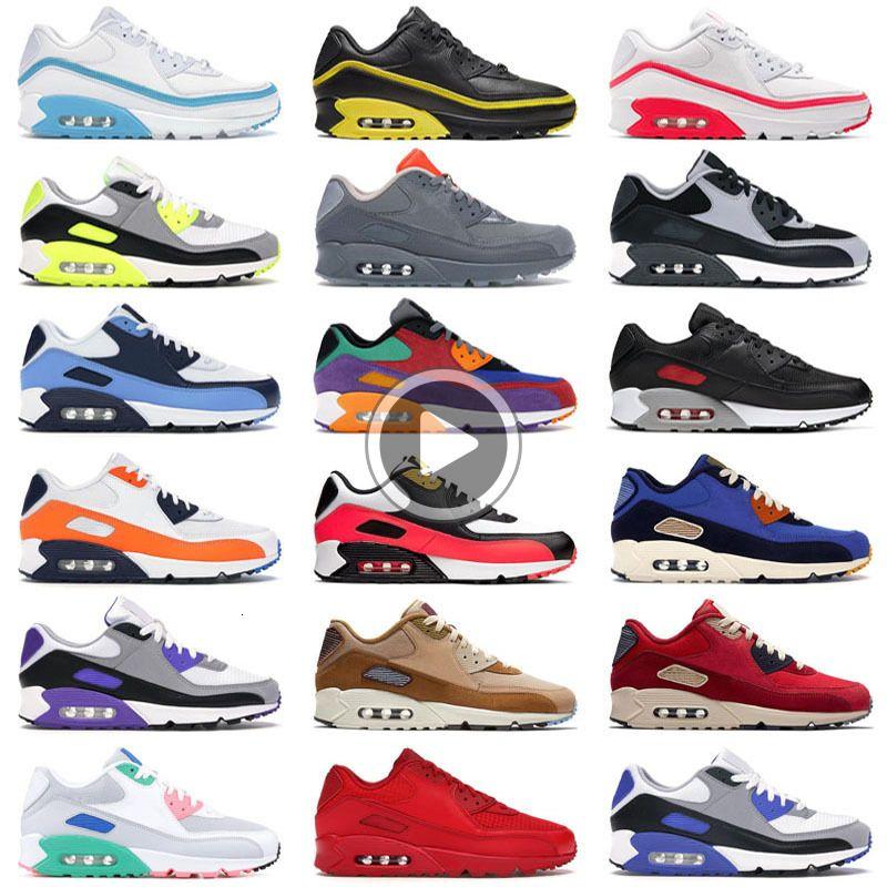 Scarpe all'ingrosso Moda Uomo Sneakers Classic 90 uomini e le donne Scarpe da corsa Sport Trainer Cuscino 90 Superficie traspirante Scarpe sportive UV3J