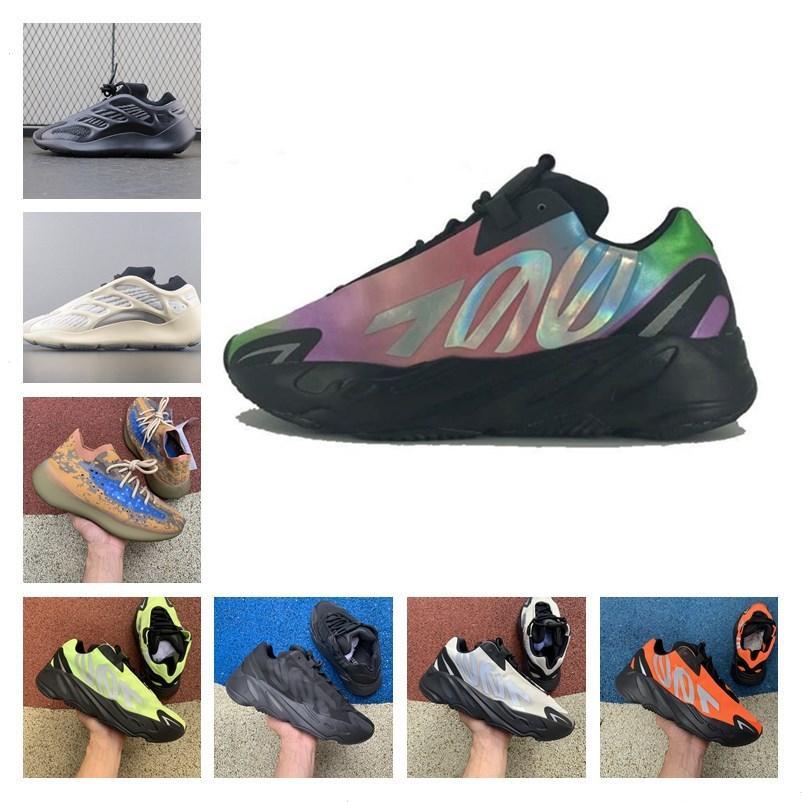 высокое качество 2020 Kanye West 700 Wave Runner Azael чужеродных Синий Овсяные Mist Vanta Запуск Спортивная обувь мужская женщин На открытом воздухе кроссовки Кроссовки