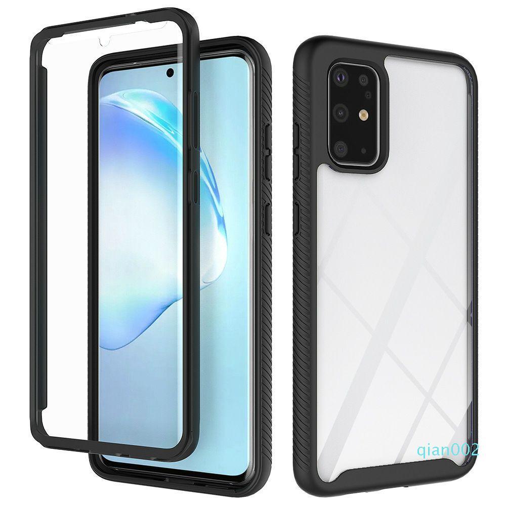 Dual Layer Acrylic + TPU transparenter freier Ganzkörper-Case für Samsung Galaxy S11 Plus-S11e A51 A71-Abdeckung w / Frontrahmen