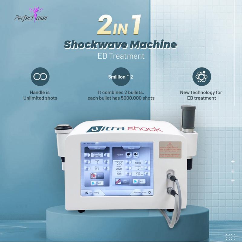¡Envío gratis! Sistema de Terapia del Dolor físico 5 Bar Shots ilimitadas acústica por ondas de choque extracorpórea por onda de choque de la máquina para el alivio del dolor Relie