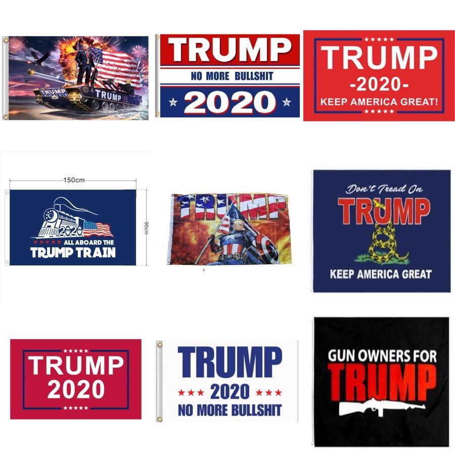 90 * 150 * 3 Bandera Trump 5 pies delgada línea azul de la bandera de Estados Unidos Red Line 2020 Banderas presidenciales no pisa en mí la bandera # 467