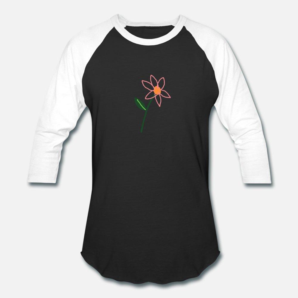 Basit çiçek t gömlek erkekler baskılı% 100 pamuk O-Boyun Normal Fit Komik İlkbahar Sonbahar Trend gömlek