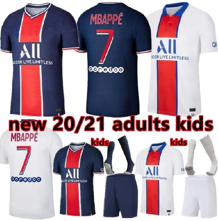 Maillots de Fußball-Kits 20 21 Fußball-Trikot 2020 2021 Mbappe ICARDI NEYMAR Shirt JR Männer Kinder Sätze einheitliche maillot de foot hommes enfants