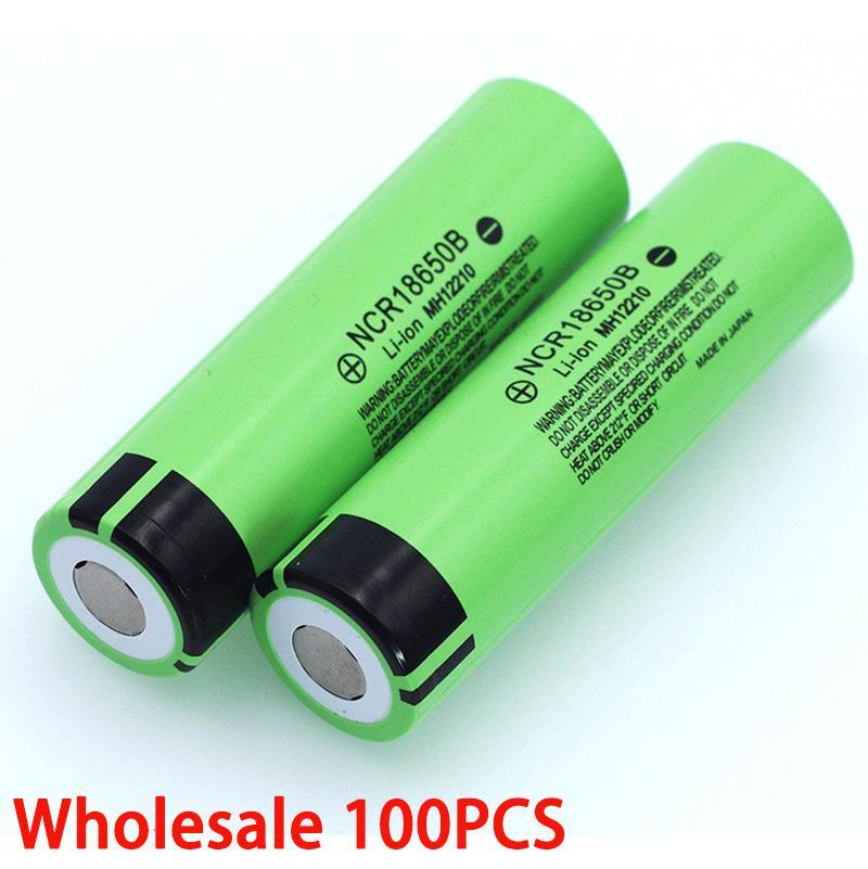 100price neue ursprünglichen NCR18650B 3,7 V 3400mAh 18650 Lithium-Akku für Taschenlampe Batterien Großhandel