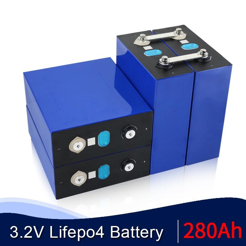 48pcs 3.2V 280AH LiFePO4 Batterie Lithium-Eisen-Phosphat-prismatische Zellen Solarzellen LiFePO4 Energiespeichersystem EU US TAX FREE