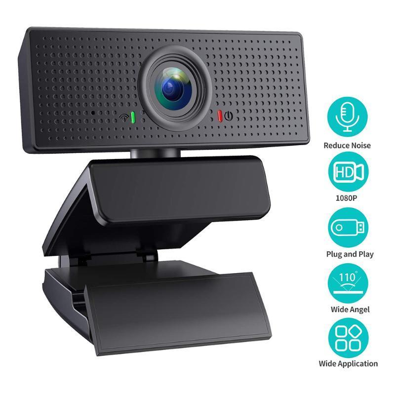 Full HD 1080P USB Webcam Видеоконференция запись Live Streaming компьютер Веб-камера с микрофоном для настольных ПК ноутбуки