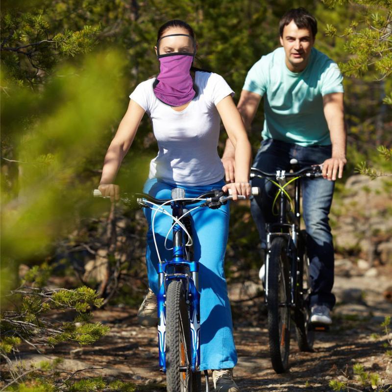 Шарфы ушные петли маска мода солнцезащитный крем крышка головы летнее охлаждение шарф пылезащитный лицо (фиолетовый)