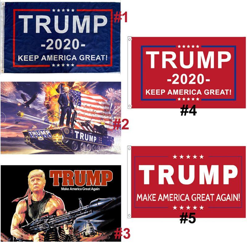Trump Bayrak Trump Amerika Büyük Afişler Dijital Seçim Bayrağı Dekor Banner OWB1119 Baskı tutun * 150cm 90 Asma