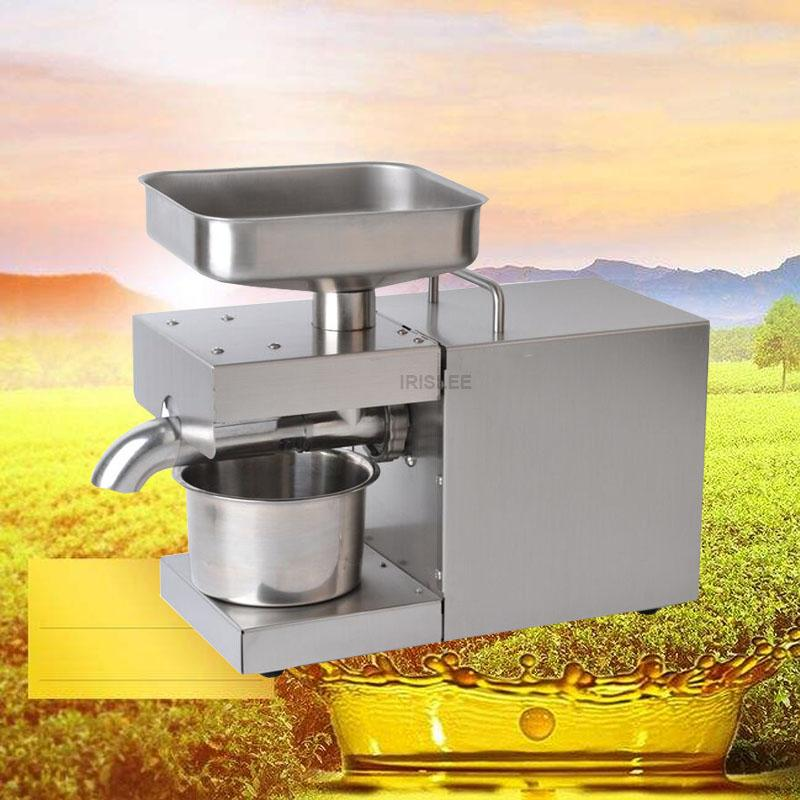 Stainless Steel Oil Presser Cold hot Oil Press Machine 110/220v Flaxseed Oil Extractor peanuts,sunflower seeds almonds