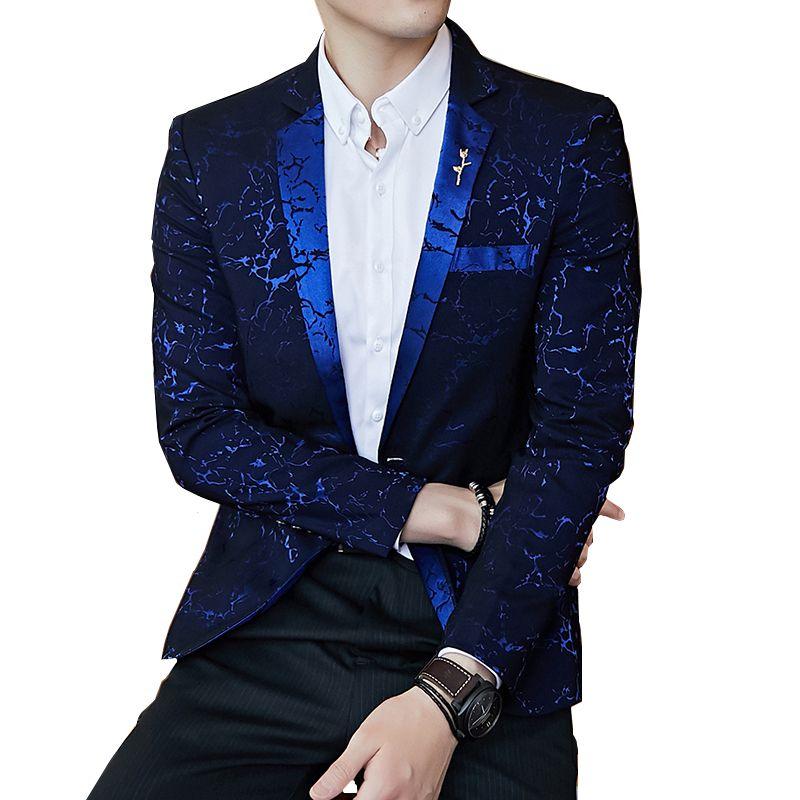 hommes Veste de costume noir Vin rouge bleu marine Slim hommes fleur Blazer taille asiatique S M L XL XXL XXXL manteaux mens
