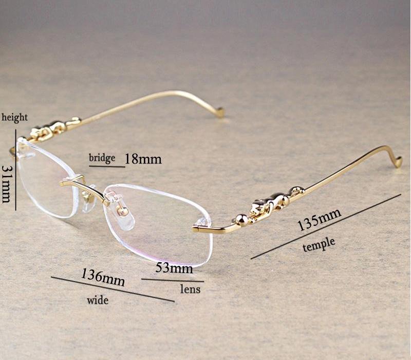 Moda oval claro cristal transparente Hombres lectura Piedra Eyewear Accesorios Oculos Eyeglasses33