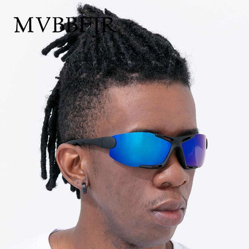 MVBBFJR Sport Square Men Polarized Sunglasses Women Driving Shade Mirror Eyewear Night Vision Luxury Fashion Sun Glasses UV400