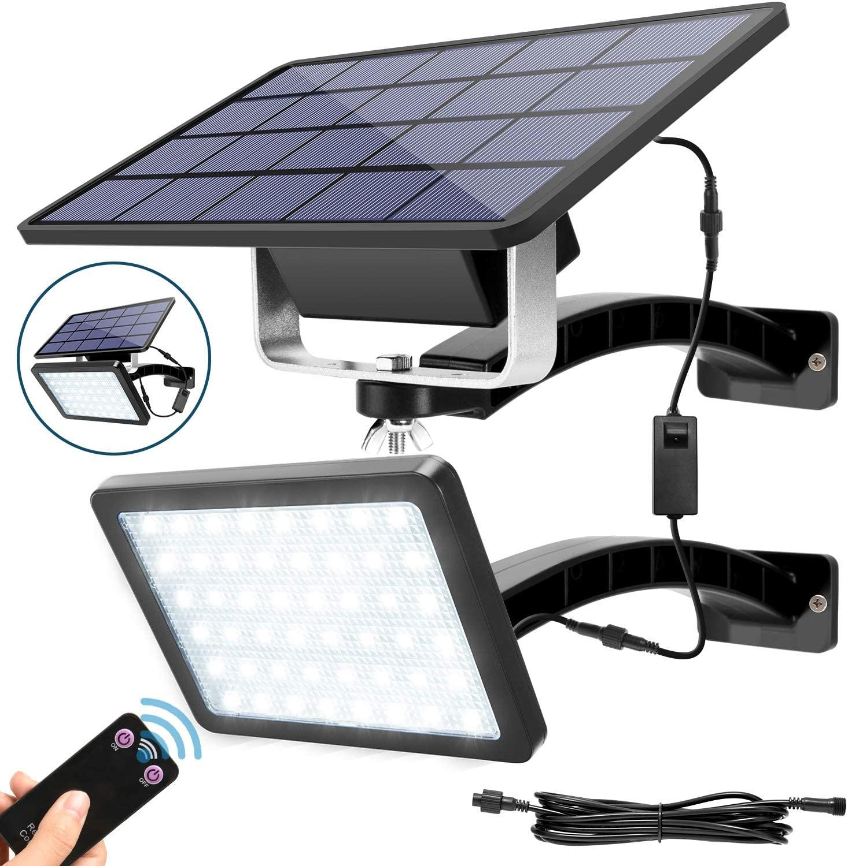 Umlight1688 800 Lumen 48 LED Solar-Porch-Lichter mit Fernbedienung 5500mAh Batterie-Kapazität Funk-Wandmontage Sicherheitsleuchte
