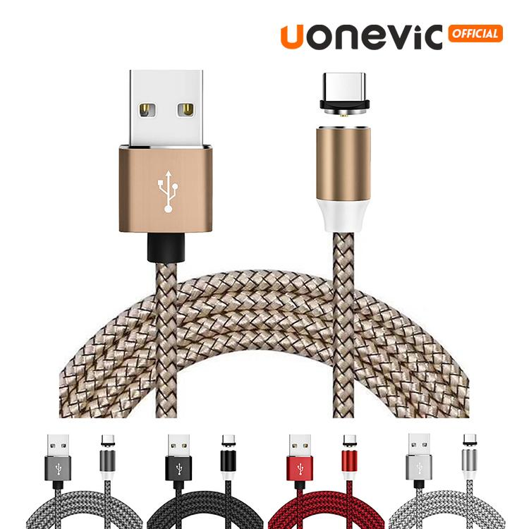 3 في 1 مغناطيس من النوع C مايكرو كابلات USB سريع كابل المسؤول نايلون المغناطيسي الكابل لسامسونج هواوي السريع لجميع الهواتف النقالة شحن سريع