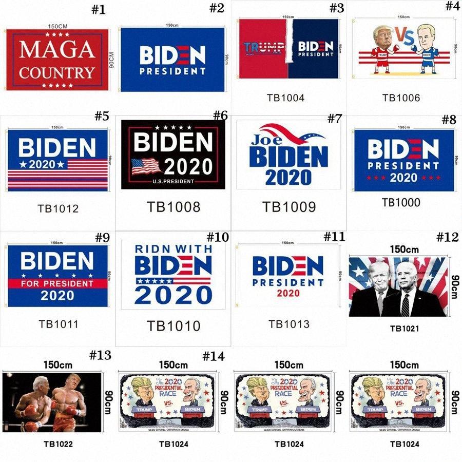 JOE BIDEN Flag 90 * 150cm 14 Styles Polyester amerikanischen Präsidentenwahl Garden Banner Flags USA Donald Trump Flags 120pcs OOA8048 Bque #