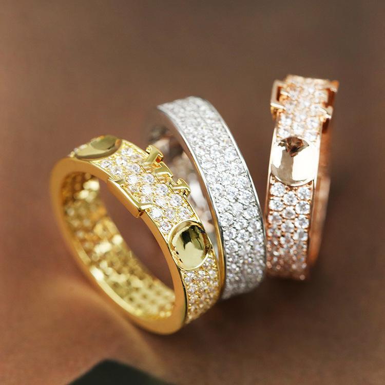 2020 فضي وردة الذهب الفولاذ المقاوم للصدأ الحب حلقة امرأة مجوهرات خواتم الزفاف الرجال وعد خواتم للإناث النساء هدية الخطوبة