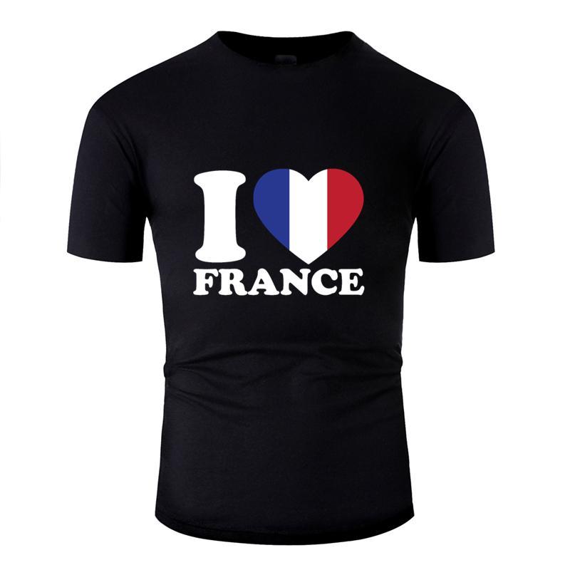 Nueva moda Humor Francia amor camiseta para hombres caballeros gran tamaño S ~ 5XL Único hombres camiseta de cuello redondo del inconformista