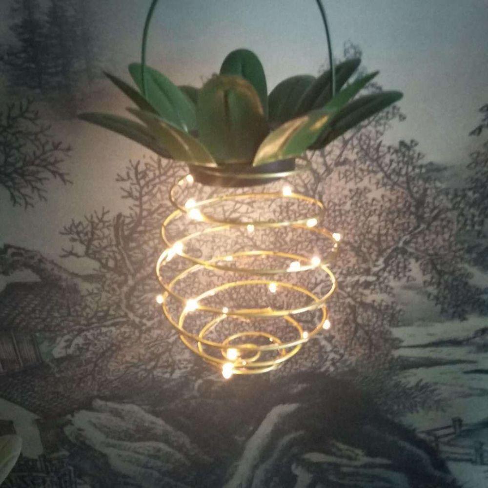 2 PCS Konesky Neuheit Ananas Solarleuchten Gartenweg hängend beleuchtet Fee-Schnur-Licht LED-Außenleuchte Straße Yard-Dekor