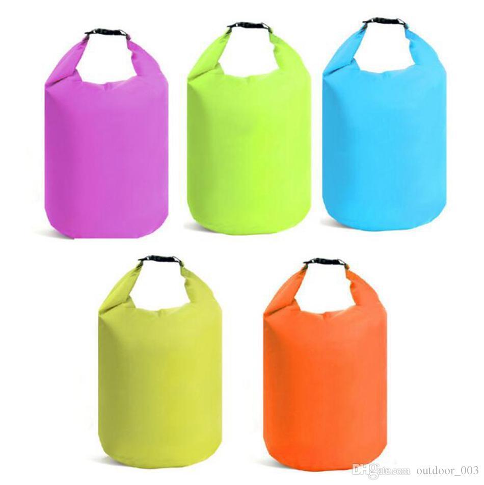 7 Colors 10L 20L 40L 70L Portable Water Bag Waterproof Storage Drying Bag Canoe Kayaking Rafting Sports Outdoor Camping Equipment hand bag