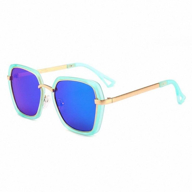 2020 2020 Kinder-Punk Rund Quadrat Sonnenbrille Baby-Mädchen-Metall-Gläser UV400 50JB IBLA #