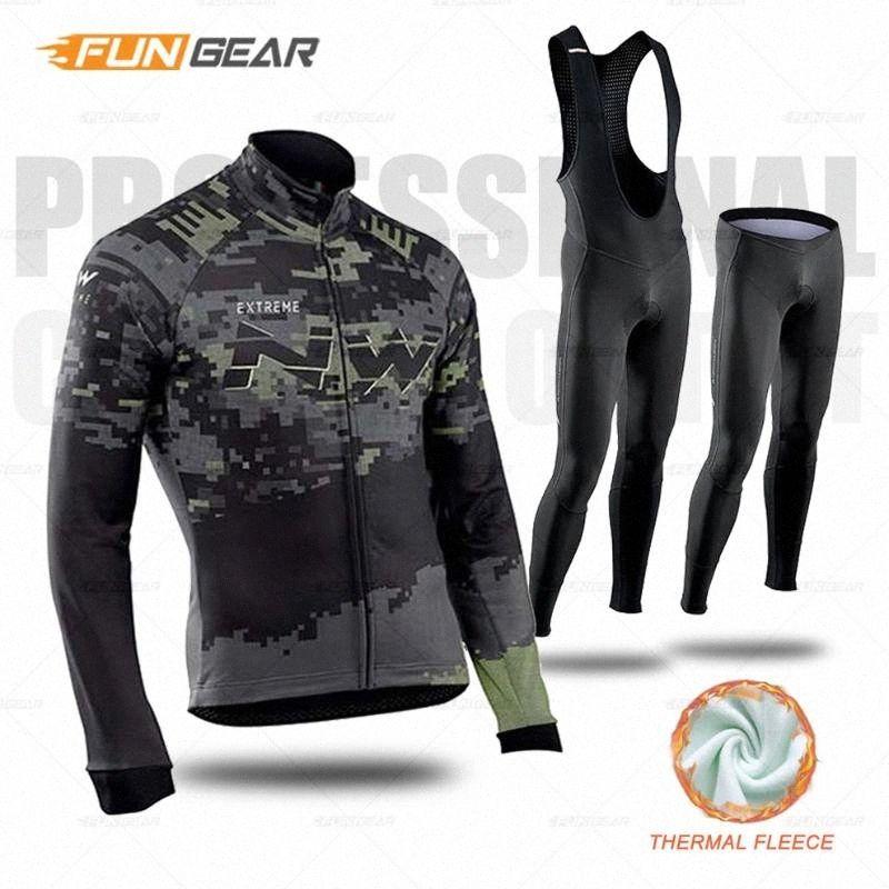 Uniforme de Inverno Long Sleeve Jersey Set Northwave Ciclismo Roupas Masculino Road Bike NW Cycl Set Thermal Pants Velo Roupa Bib Terno j3Kz #