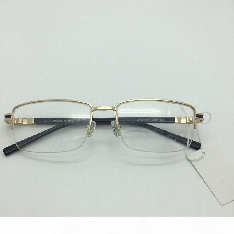 708 Brand New Eye Glasses Frames for Men Glasses Frame Gold Silver TR90 Optical Glass Prescription Eyewear Full Frame