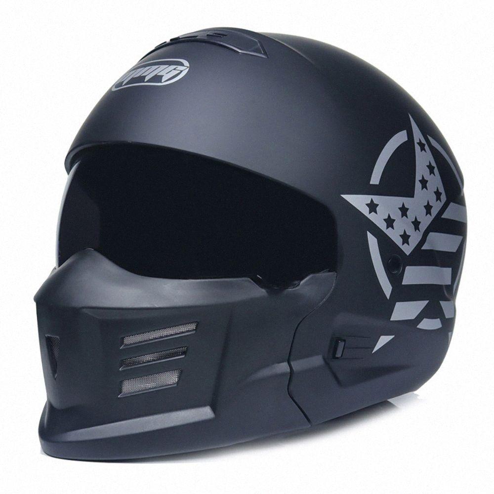 DOT Scorpion Helmet Male Motorcycle Retro Full Face Helmet Locomotive Personality Combination Warrior CsIG#