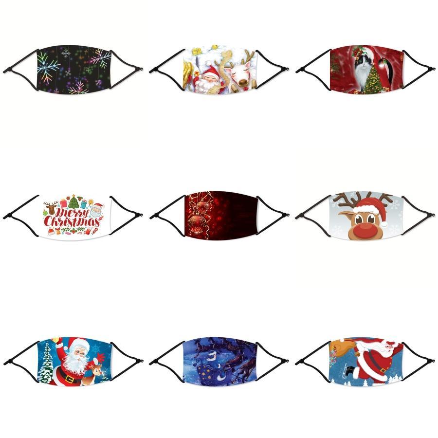 Visage de Noël Masque anti-poussière Earloop avec la respiration Valve réglable Masques de Noël réutilisable bouche Masques de protection de Noël PM2,5 Chr # 506