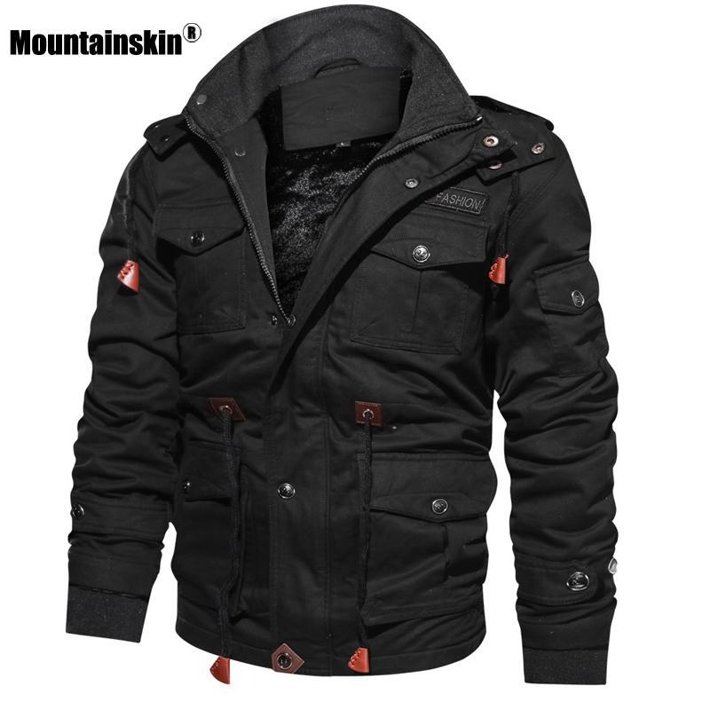 Mountainskin Мужские зимние куртки из флиса с капюшоном Теплое пальто Тепловое Толстые Верхняя одежда Мужской Military Jacket Mens марка одежды SA600