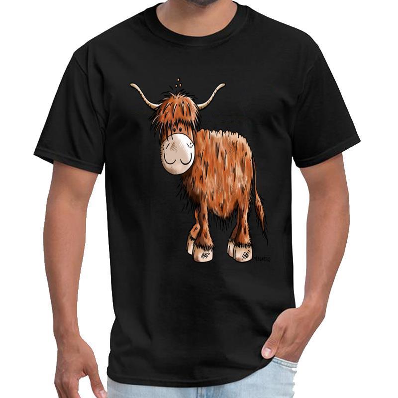Ganado escocés de la montaña - hilarante de dibujos animados - Diversión - Regalo Tokyo Ghoul camisa de los hombres thundermans camiseta más tamaños s-5XL lema