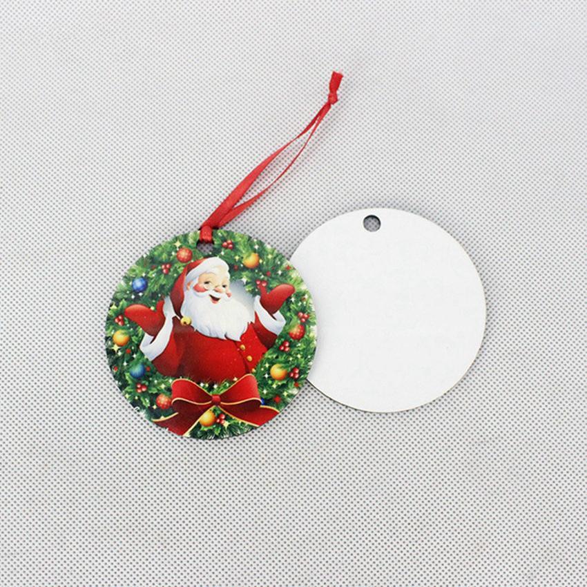 Sublimation Blanks Ornement de Noël d'arbre de Noël en bois Ornement Pendentif Hanging de transfert de chaleur d'impression Presse Décoration de Noël CYZ2817