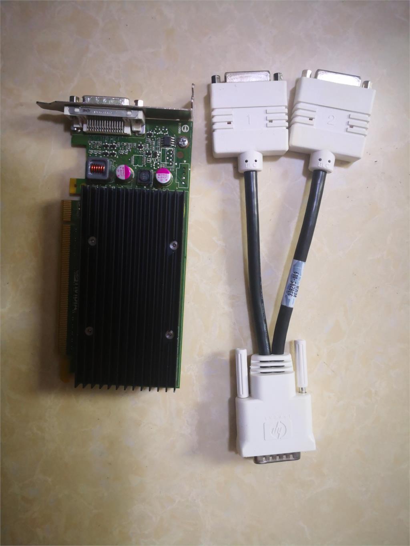 90% Новый NVS300 X16 BV456AA 625630-001 632827-001 Графическая карта с адаптером кабеля DVI