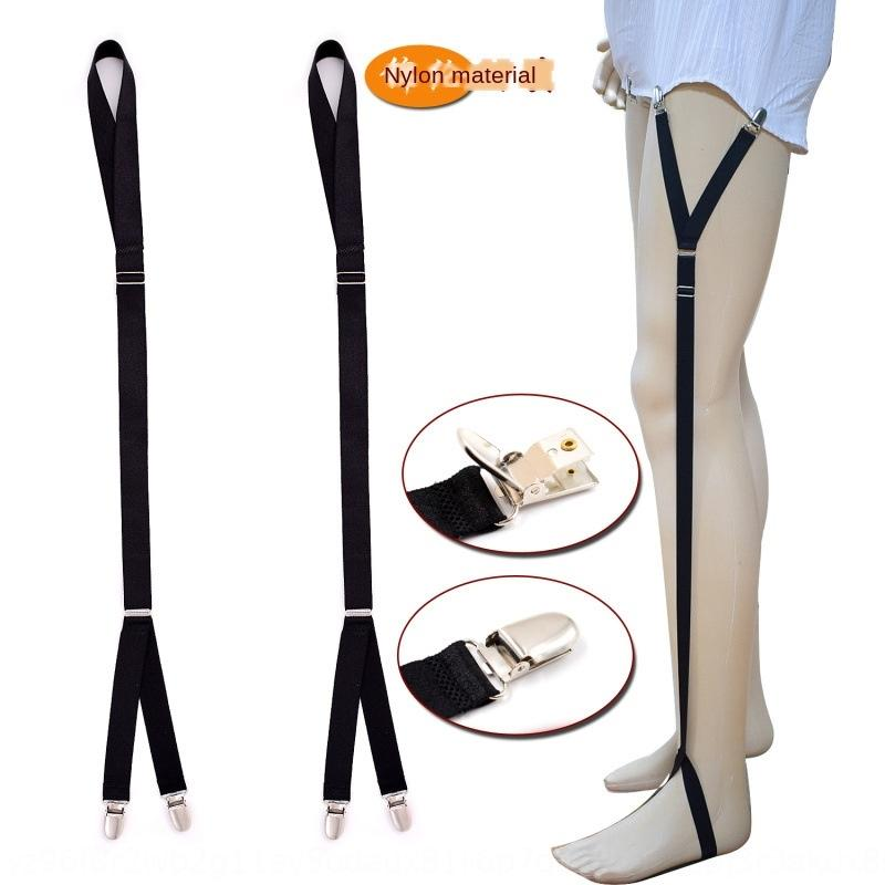 Men's shirt anti-wrinkle belt Shirt suspender socks suspender socks nylon material Garter clip garter belt 2.0cm Y2