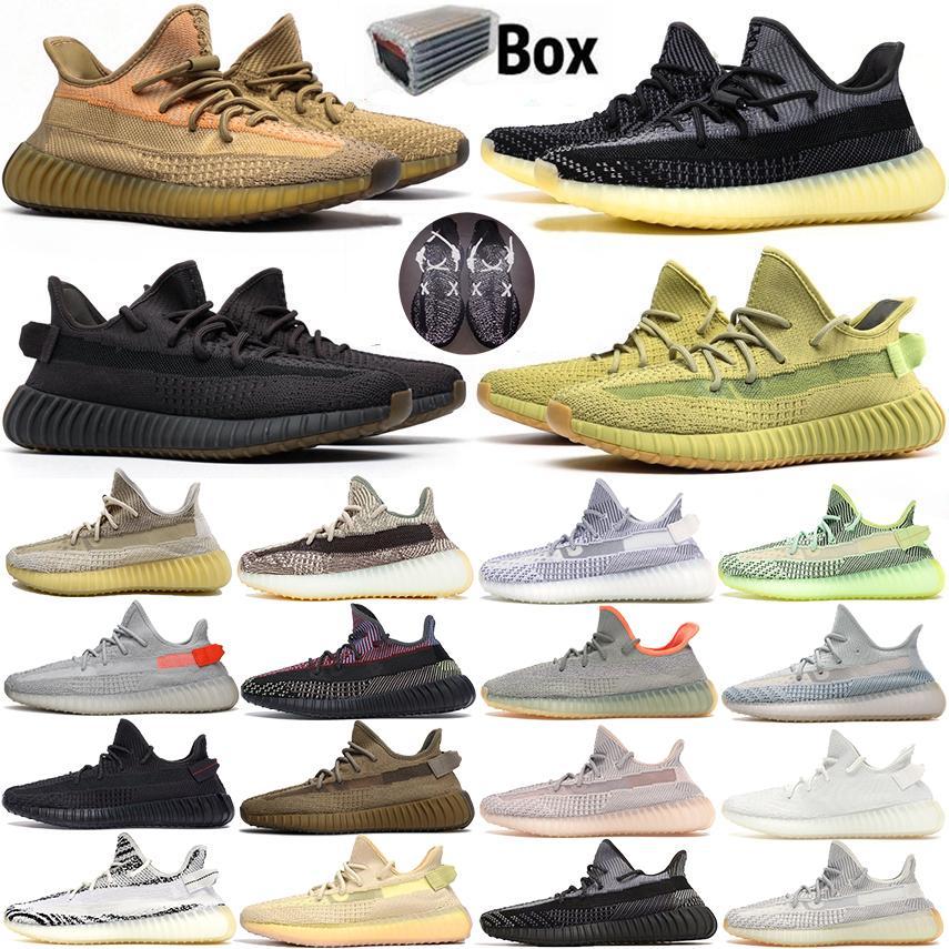 Lundmark luire réfléchissant Chaussures de course nuage blanc avec boîte Kanye West chaussures de marque Hommes Femmes Noir statique Antlia Synth Sport Sneaker