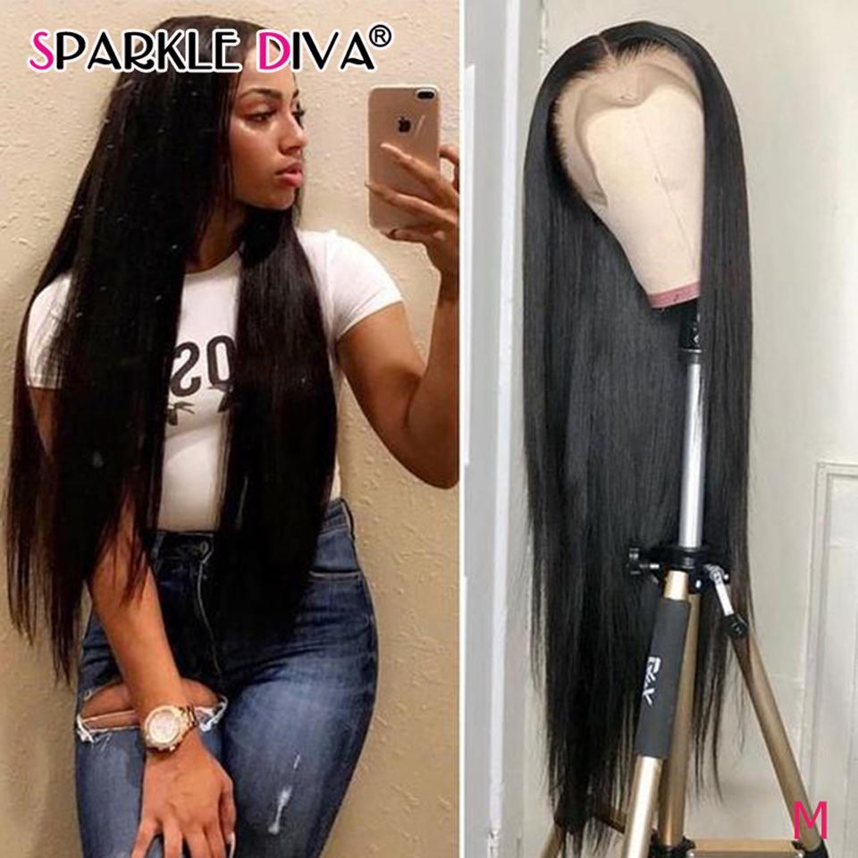 중간 부분 스트레이트 레이스 프런트가 인간의 머리 가발 흑인 여성의 브라질 인간의 머리 가발 레미 13X1 레이스 프런트 가발 (150) 밀도