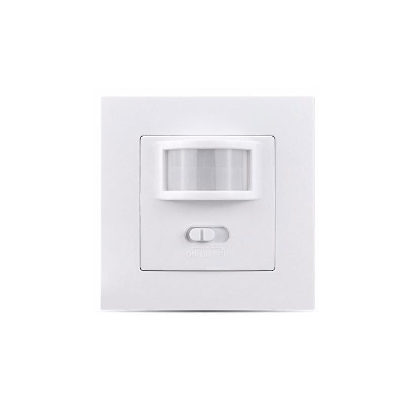UK / EU Стандартный инфракрасный датчик движения PIR переключатель Лампа настенный выключатель встроенного типа дома и сада