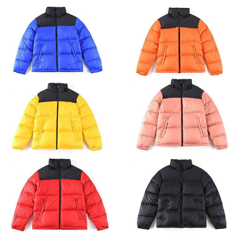 Moda norte caliente abajo Diseñador Parkas genuino ropa rompevientos hombres de las mujeres Negro Amarillo Rojo invierno gruesa XS-XXL