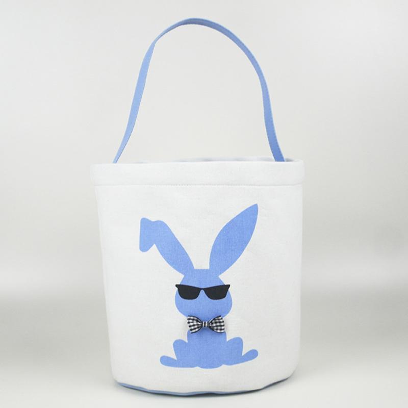 Детские Симпатичные корзины Украшение яйцо охоты Холст подарков Карри конфеты мешок отдыха сумки Barrel Тотализаторов Easter Bucket
