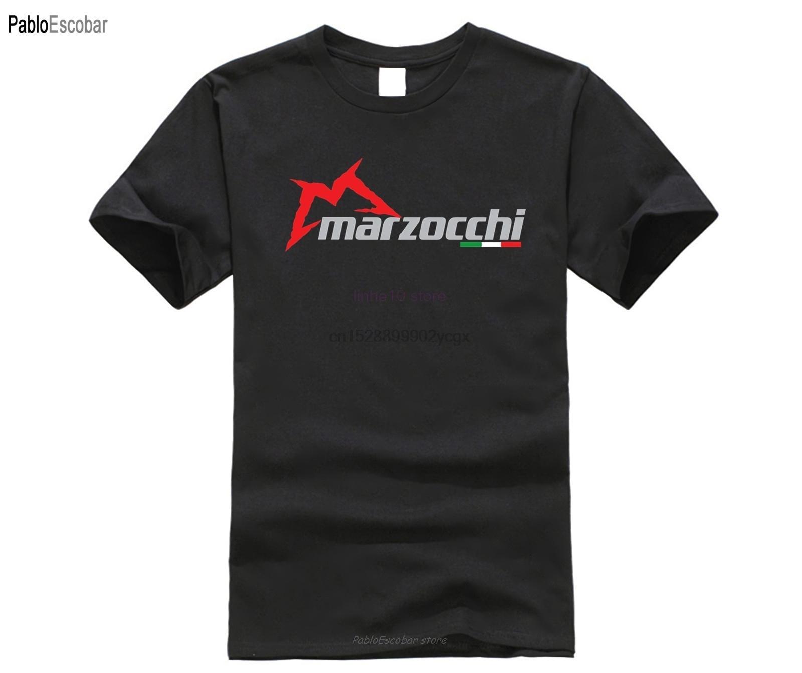 Erkekler Tişörtlü Marzocchi Logo Süspansiyon Çatal Motorlu Bisiklet S Siyah Tişörtlü Pamuk Kısa Kollu komik Grafik Tee Gömlek Kadınlar
