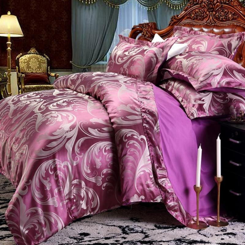 42 Dropshipping Wedding Luxury Bedding Sets Jacquard Queen/King Size Duvet Cover Set wedding Bedclothes Bed Linen bed sheet DOP