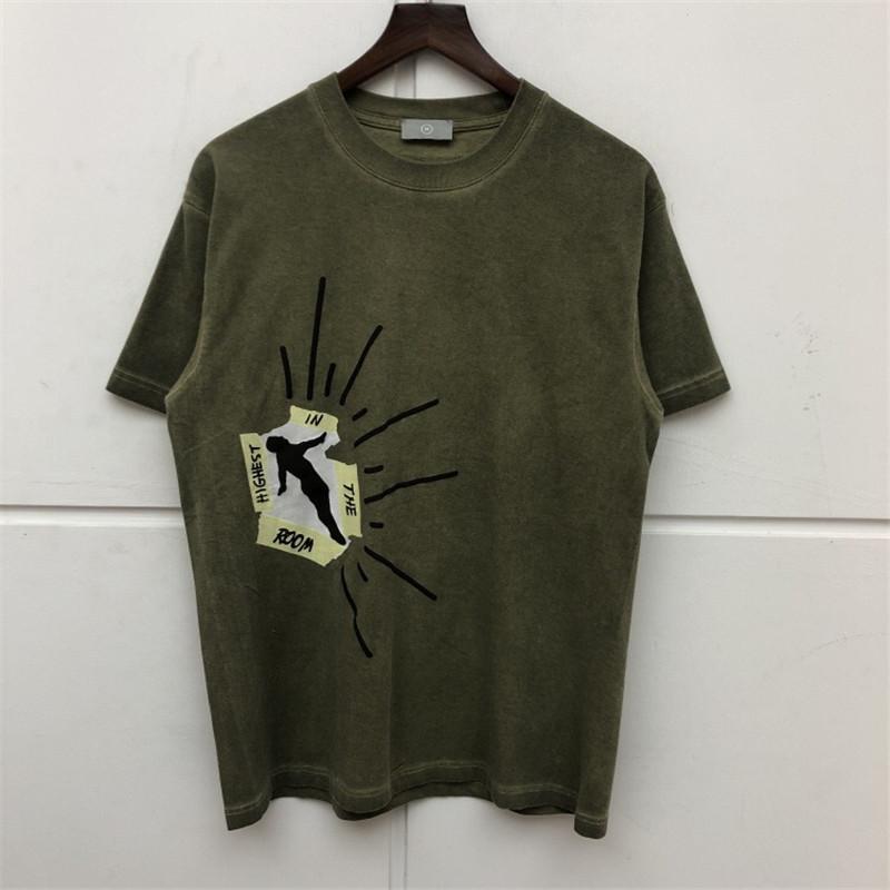 Travis Scott Cactus Jack Odası T Gömlek Erkekler Kadınlar Yüksek Kalite Travis SCO AstroWorld tişört En Tees yılında Yüksek
