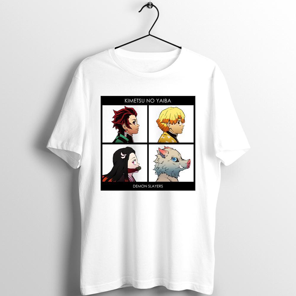 Unix camiseta de los hombres de las mujeres Demon Slayer Kimetsu No Yaiba Lámina De Demonio Destrucción Nezuko Tanjiro Inosuke Impreso Tee