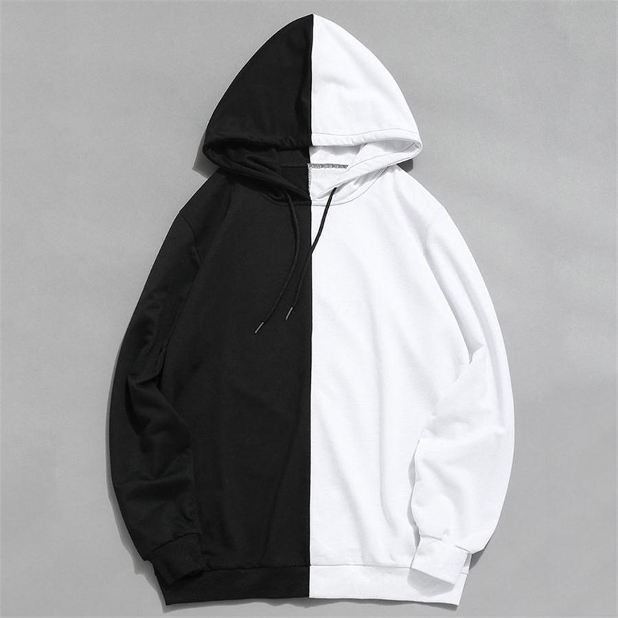 Designer HoodiesPrinted Casual Manga comprida solta O pescoço capuz Mens Moda Fleece Hoodies dos homens # 766